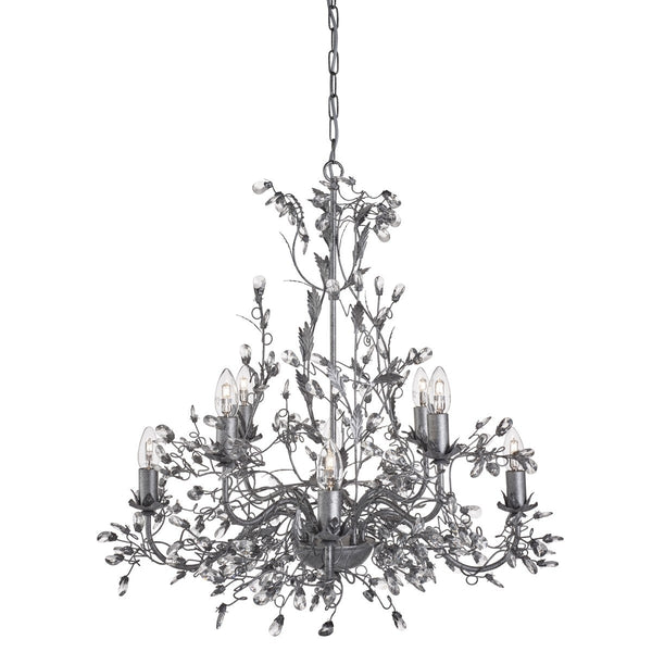 Almandite 8 Light Chandelier With Crystal Dressing (+ More Colour)