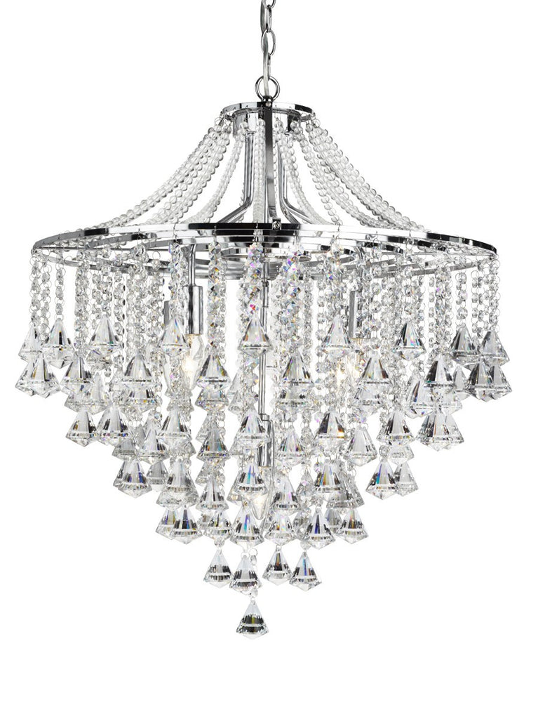 Dorchester 5 Light Chandelier With Clear Crystal Buttons (+More Colours)