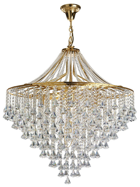 Dorchester 7 Light Chandelier With Clear Crystal Buttons (+More Colours)