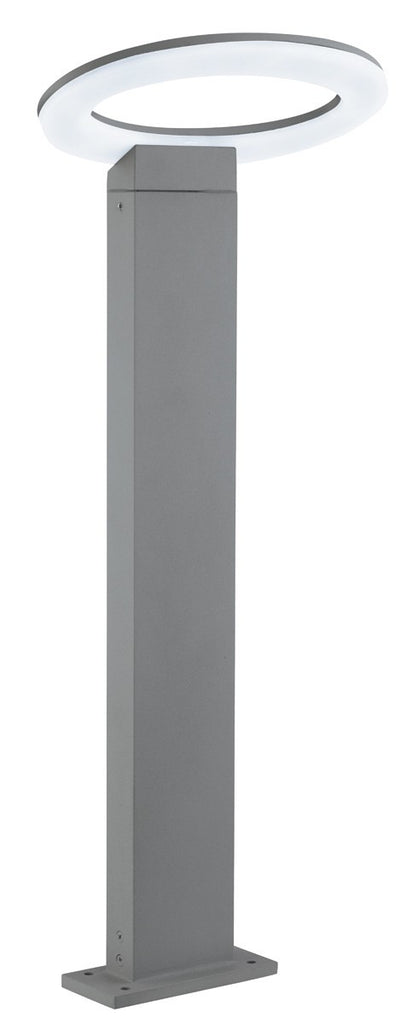 Grey Led Ip44 Outdoor Post Light With Frosted Diffuser