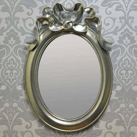 30cm X40cm Silver Plated Bow Mirror