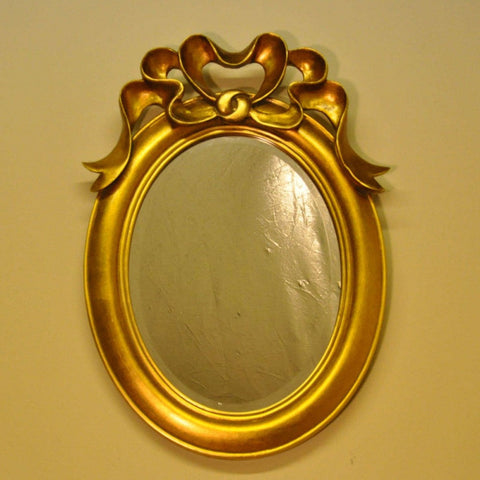 30cm X40cm Gold Bow Mirror