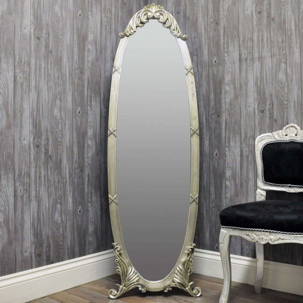 40cmx145cm Plated Cheval Mirror