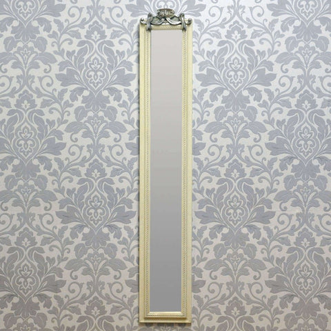 109cm X 13cm Antique White Wall Mirror