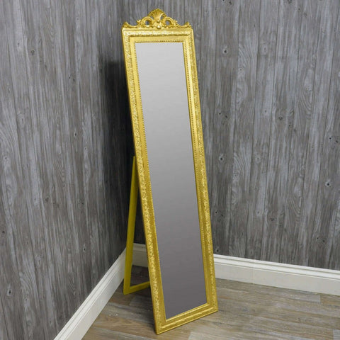 180cm X 44cm Cheval Mirror Antique Gold