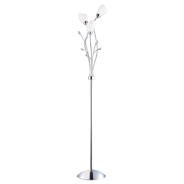 Gardenia 3 Light Floor Lamp With Opal Glass Shades(+More Colours)