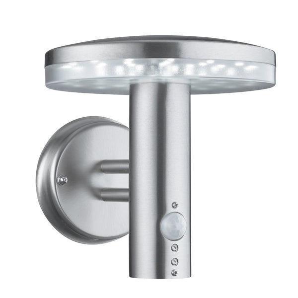 Stainless Steel Ip44 30 Led Outdoor Wall Light With Polycarbonate Diffuser