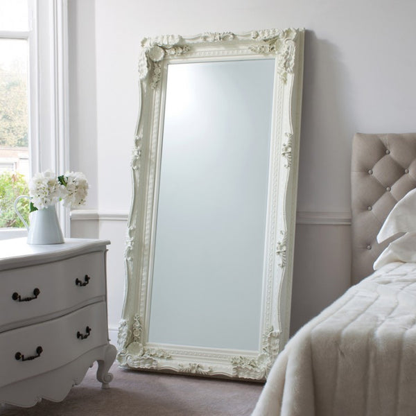 Carved Louis Leaner Mirror  (+More Colours)