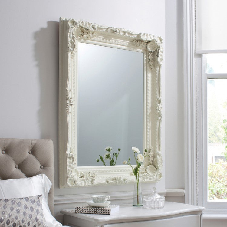 Carved Louis Mirror Cream