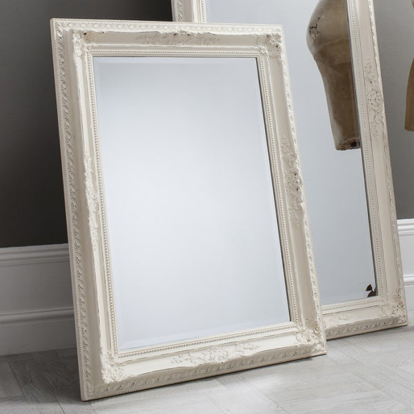 Buckingham Mirror Vintage White (+More Sizes)