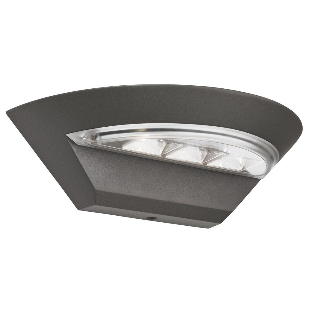 Ip44 Grey Led Semi-Circle Outdoor Wall Light