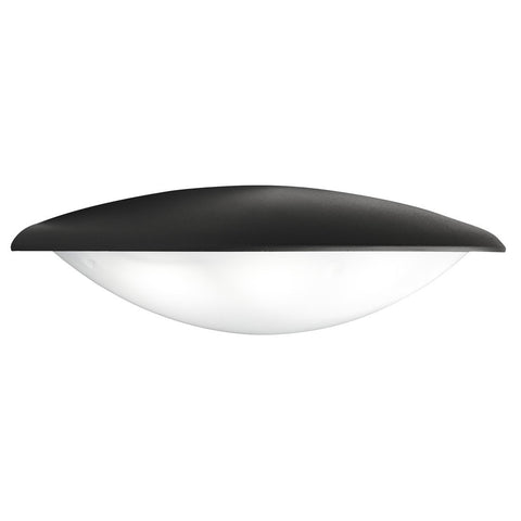 Dark Grey Ip44 4 Led Outdoor Half Circle Wall Light