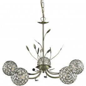 Bellis Ii 5 Light Fitting With Clear Glass Shades (+ More Colour)