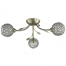 Bellis Ii  3 Light Fitting With Clear Glass Shades (+ More Colour)