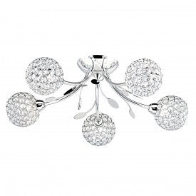 Bellis Ii 5 Light Fitting With Clear Glass Shades(+More Colour)