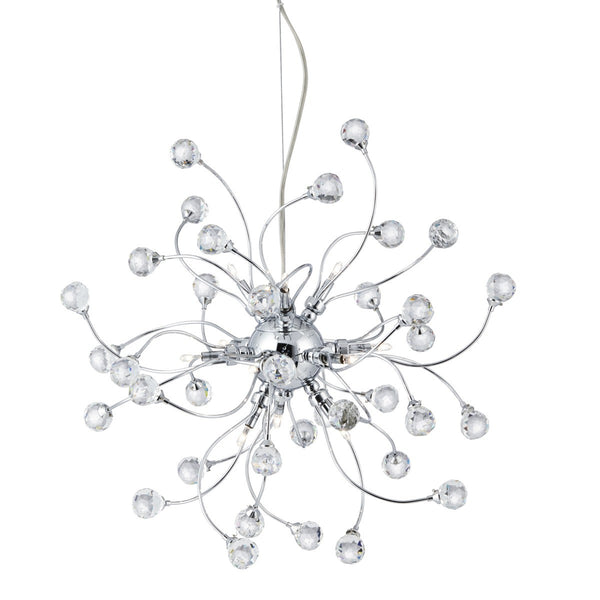 Sonja Chrome 12 Light Fitting With Crystal Balls Decoration