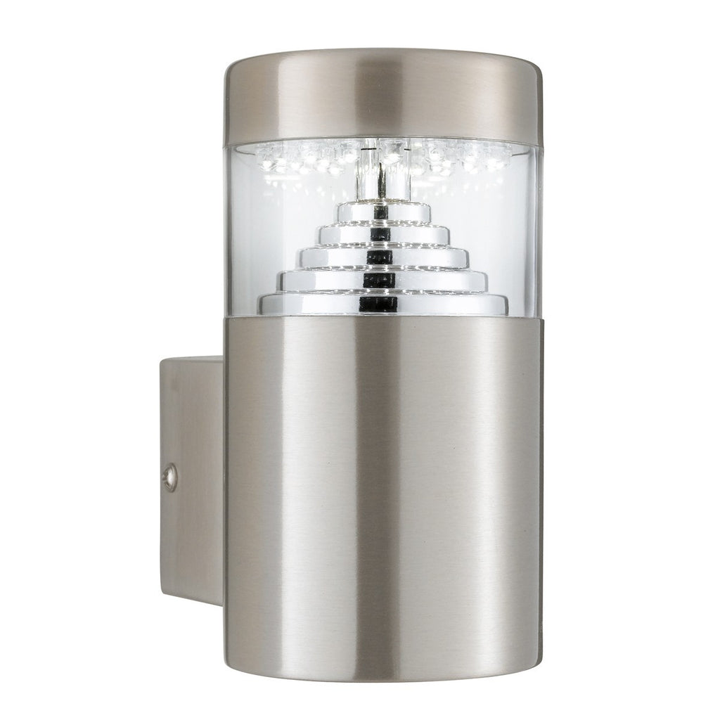 Stainless Steel Ip44 30 Led Outdoor Wall Light With Clear Diffuser