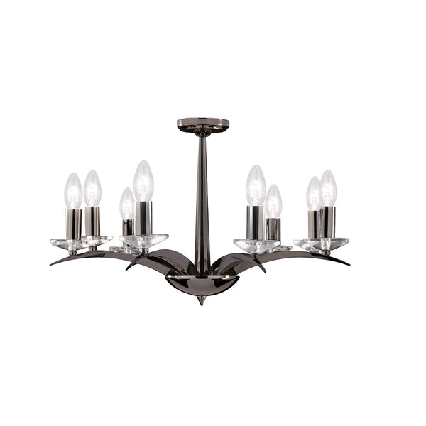 Kensington 8 Light Fitting With Cut Glass Sconces (+More Colours)