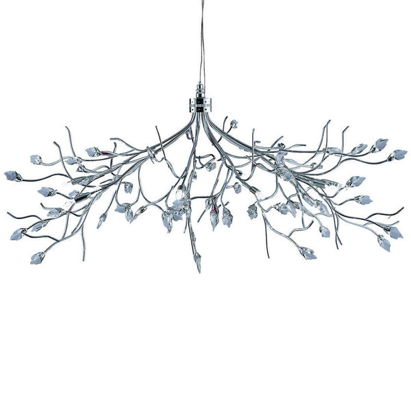 Willow Maple Leaf 10 Light Fitting With Crystal Leaves