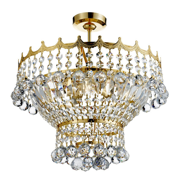 Versailles 5 Light Fitting Trimmed With Crystal(+More Colours)