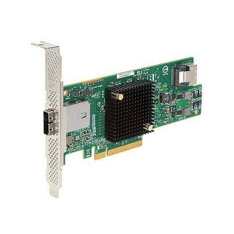 Broadcom LSI SAS 9207-4i4e 8-port 6Gb/s SATA+SAS PCI-Express 3.0 Low Profile Host Bus Adapter, Single