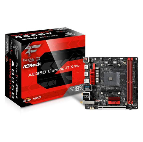ASRock AB350 GAMING-ITX/AC Socket AM4/ AMD Promontory B350/ DDR4/ SATA3&USB3.0/ M.2/ WiFi/ A&GbE/ Mini-ITX Motherboard