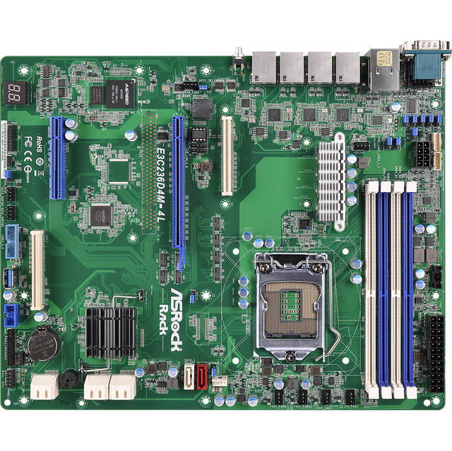 ASRock Rack E3C236D4M-4L LGA1151/ Intel C236/ DDR4/ SATA3USB3.0/ V&4GbE/ ATX Server Motherboard
