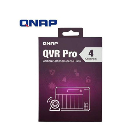 QNAP LIC-SW-QVRPRO-4CH 4 Channel License for QVR Pro
