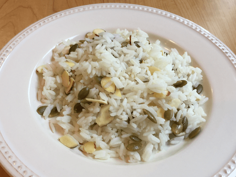Basmati Rice with Roasted Pumpkin Seeds and Almonds or Brown Rice with Butter