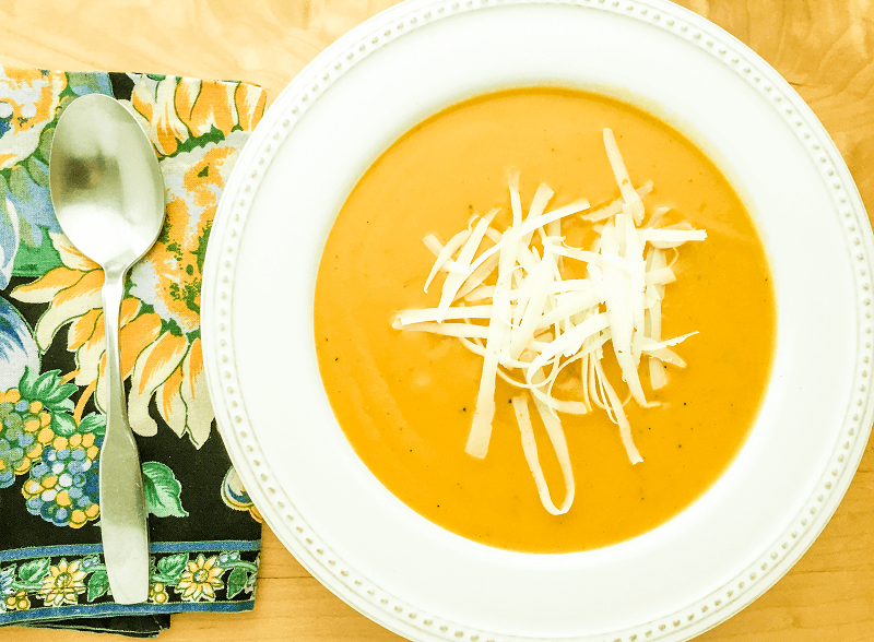 Carrot and Leek Soup with Thyme