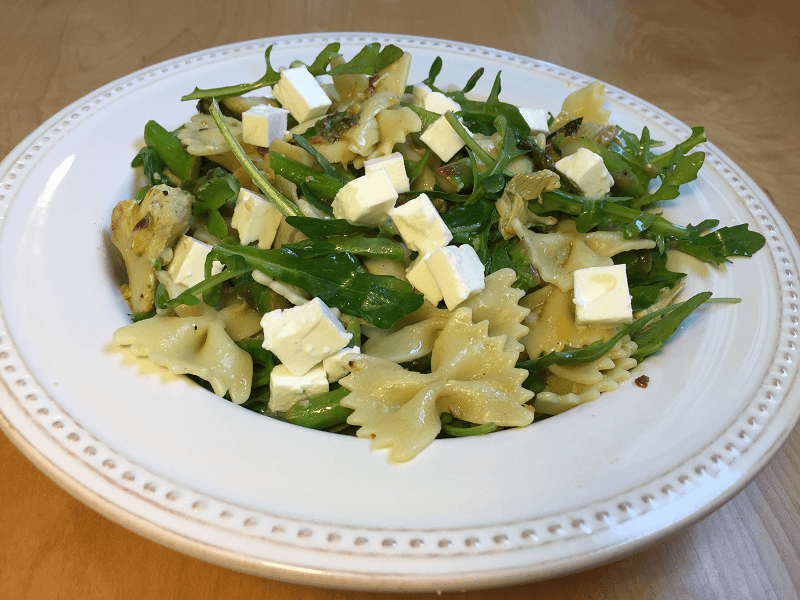 Lemony Asparagus and Artichoke Pasta Salad