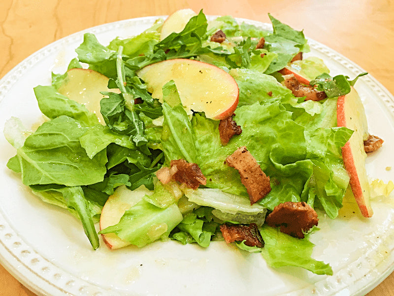 Mixed Greens with Apple, Bacon, and Cider Vinaigrette