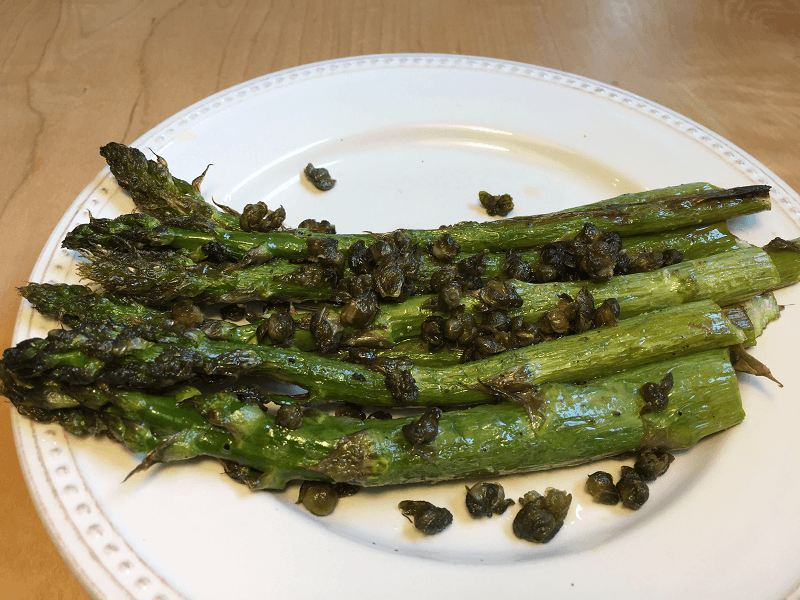 Oven Roasted Asparagus with Capers