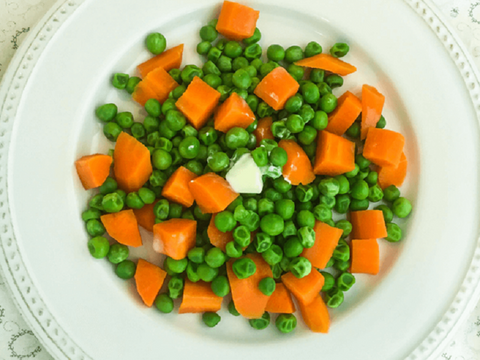 Peas and Carrots with Butter