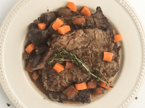 Pot Roast with Mushrooms and Red Wine