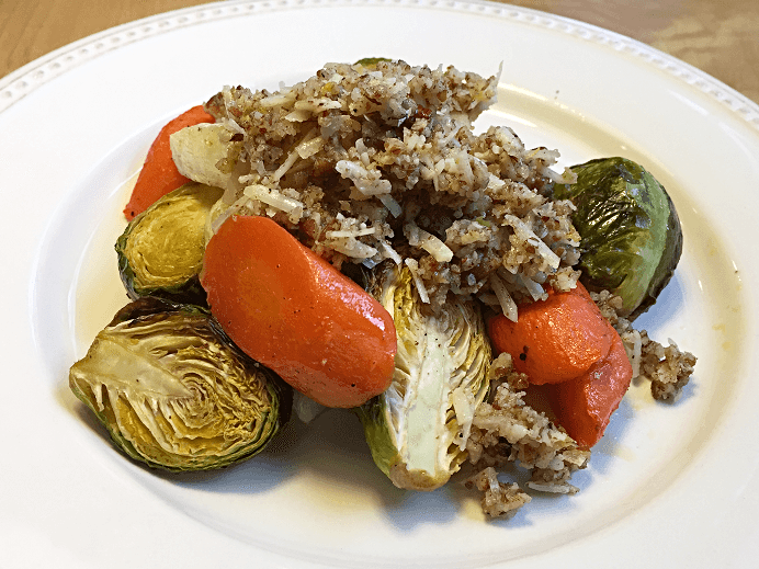 Roasted Vegetables with Pecans and Parmesan