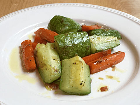 Sautéed Zucchini and Carrots with Lemon