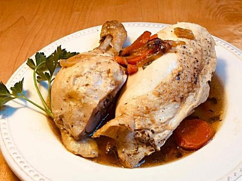 Casserole Roasted Chicken with Tarragon