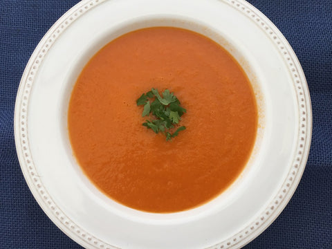 Sweet and Spicy Chilled Carrot Soup