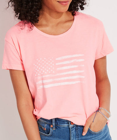 Women's Flag Slub Vintage Short-Sleeve Tee