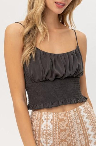Smocked Jersey Cami Top