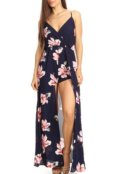 Floral Layered Romper