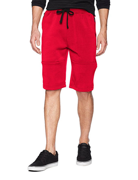 Coated Zip Fleece Shorts