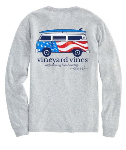 Men's USA Bus & Board Tee