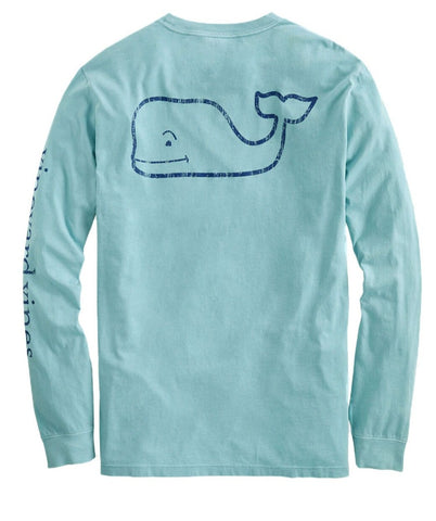 Men's Garment-Dyed Vintage Whale Tee