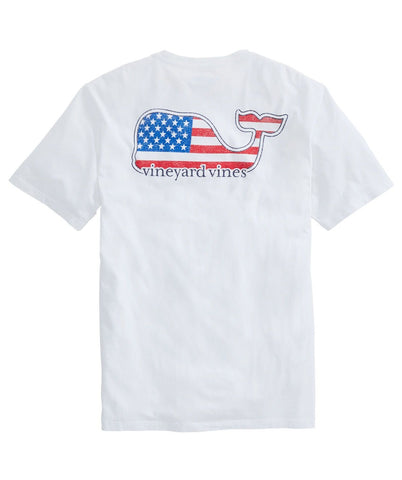 Men's Americana Whale Short-Sleeve Pocket Tee