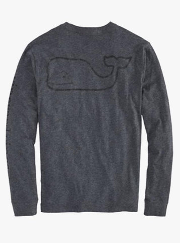 Men's Vintage Whale Graphic Pocket Long Sleeve Tee