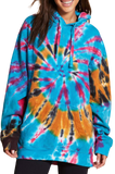 Feather Tie Dye Oversized Hoodie