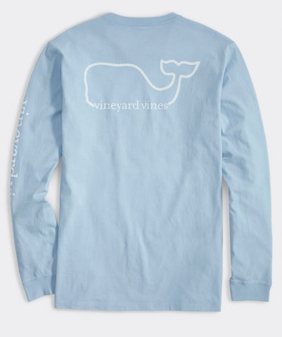 Men's Whale Long Sleeve Pocket Tee