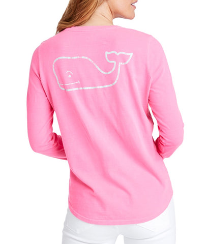 Women's Long-Sleeve Slub Vintage Whale Tee